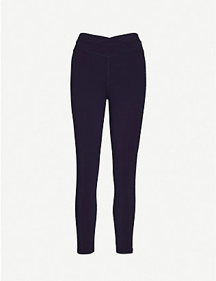 LORNA JANE: Wrap waistband mid-rise stretch-woven leggings