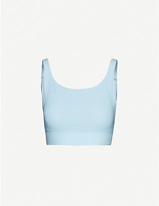 LORNA JANE: High Intensity mesh-panel stretch-woven bra