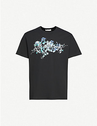 GIVENCHY: Logo-print cotton-jersey T-shirt