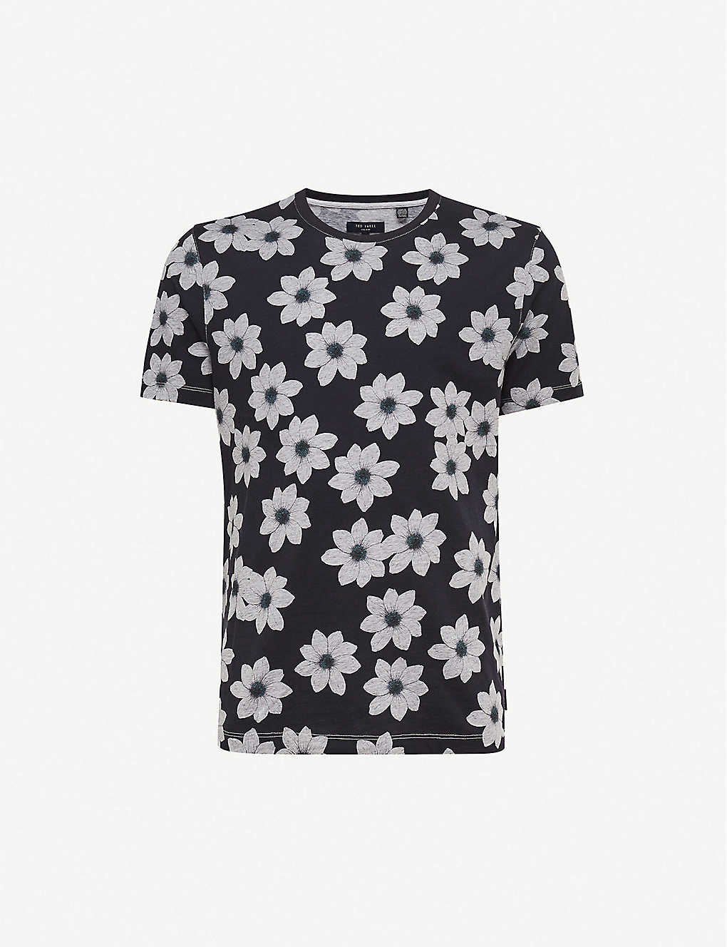 TED BAKER: Floral-print cotton-jersey T-shirt