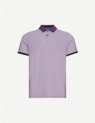 TED BAKER: Caffine striped slim-fit cotton polo shirt