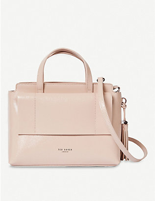 TED BAKER: Lonyn patent-leather tote bag