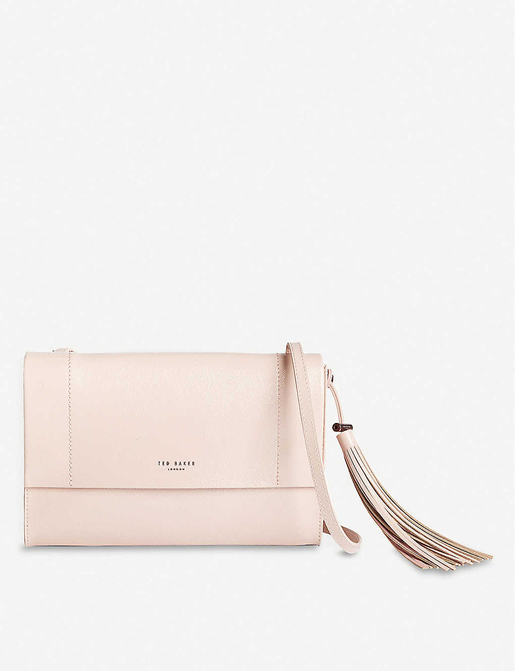 TED BAKER: Lailai patent-leather cross-body bag