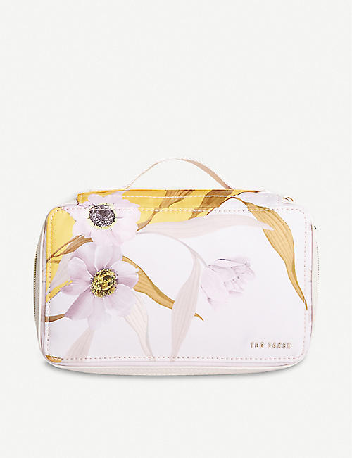 TED BAKER: Cabana-print nylon travel case