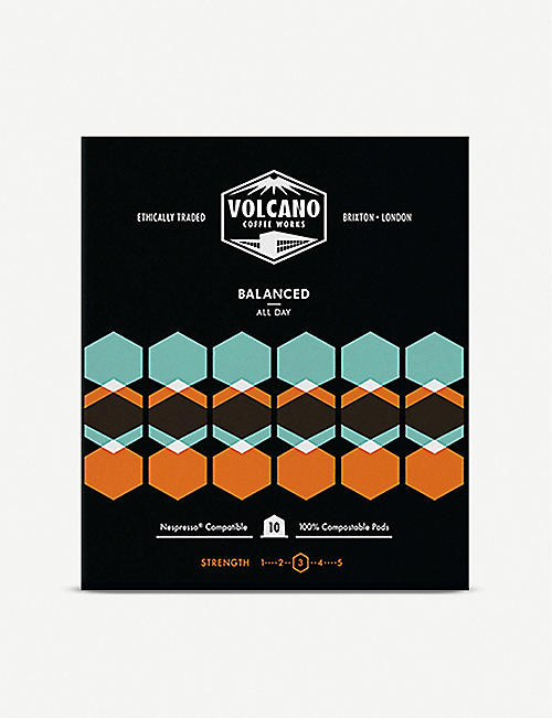VOLCANO COFFEE Balanced All Day Coffee Pods box of 10