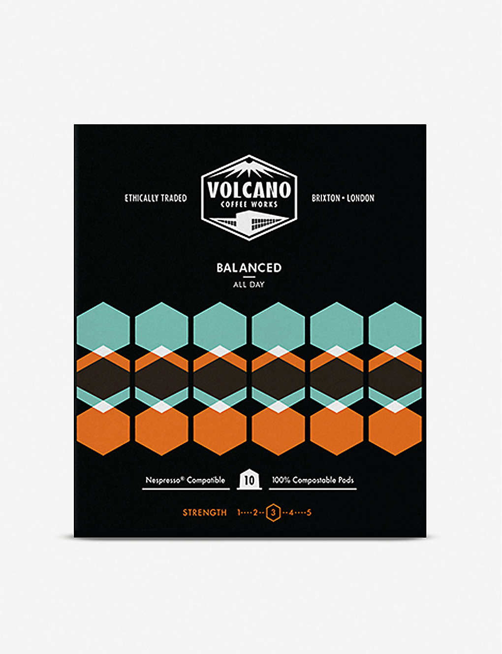 VOLCANO COFFEE: Balanced All Day Coffee Pods box of 10