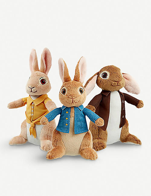PETER RABBIT: Peter Rabbit, Mopsy and Benjamin Bunny assorted plush toy 18cm