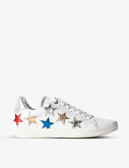 ZADIG&VOLTAIRE: Used Star leather low-top trainers