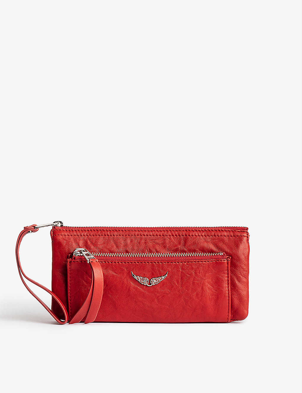ZADIG&VOLTAIRE: Etoile lambskin leather clutch bag