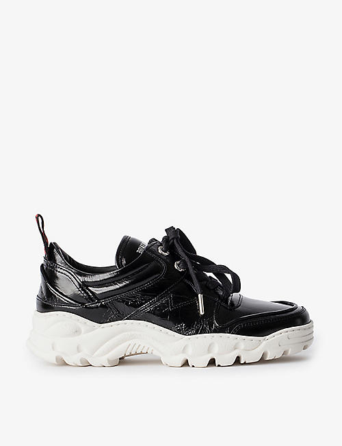 ZADIG&VOLTAIRE: Blaze Crush leather trainers