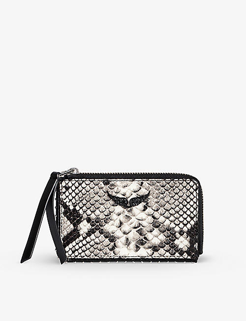 ZADIG&VOLTAIRE: ZV Wild croc-embossed leather cardholder