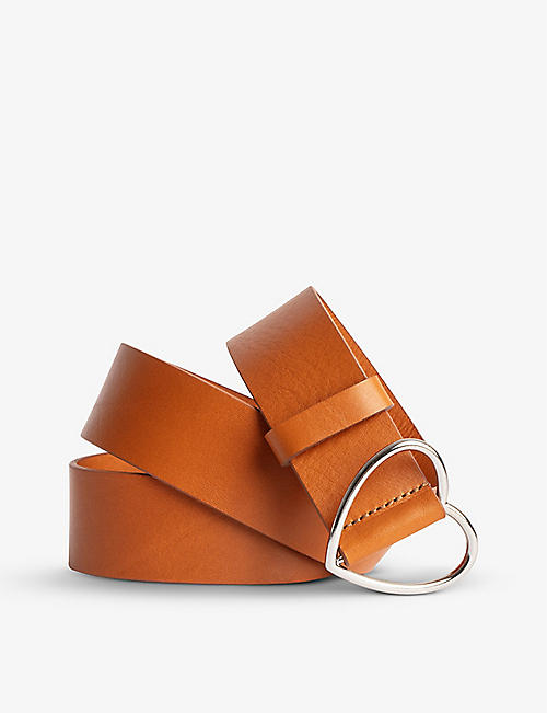ZADIG&VOLTAIRE: Harley heart-buckle leather belt
