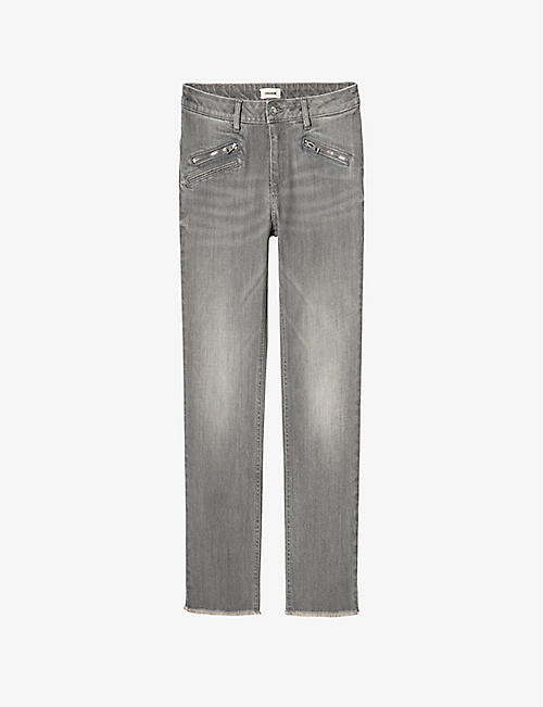 ZADIG&VOLTAIRE: Ava faded stretch-denim jeans