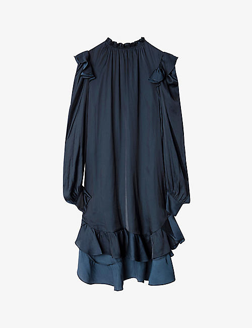 ZADIG&VOLTAIRE: Ruins ruffle-trimmed satin dress
