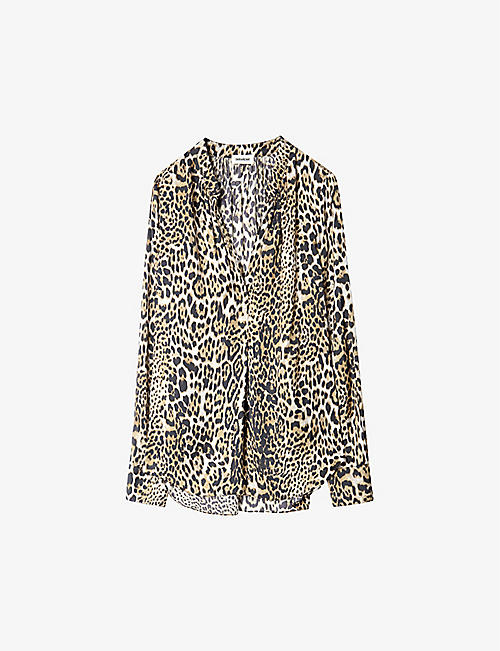 ZADIG&VOLTAIRE: Tink leopard-print satin blouse