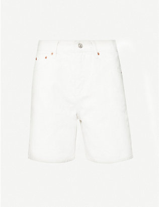 TOPSHOP: Straight-fit cotton-twill shorts