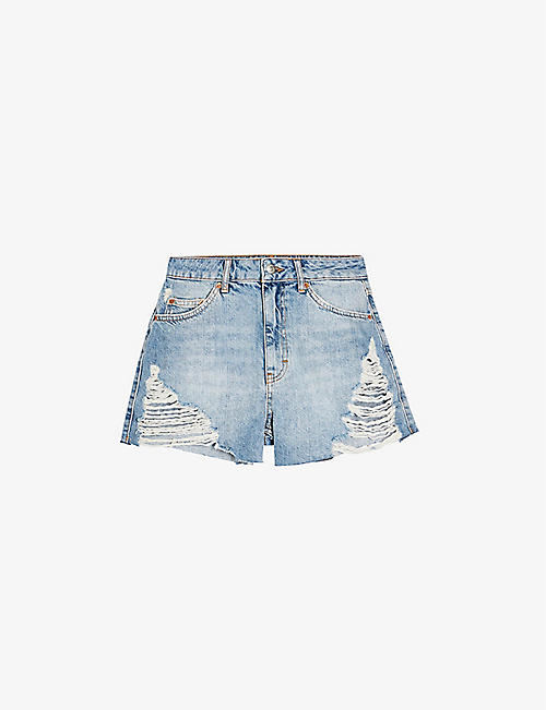 TOPSHOP: Ripped mom denim shorts