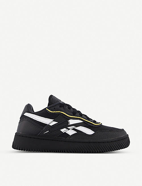 REEBOK: Reebok x Victoria Beckham Dual Court II faux-leather trainers