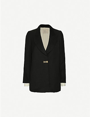 TAIGA TAKAHASHI: Emsley Lounge single-breasted linen-blend blazer