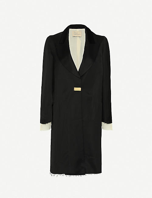 TAIGA TAKAHASHI: Callisto single-breasted woven coat