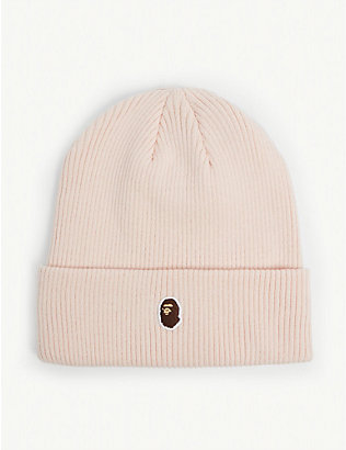 BAPE: Head point cotton-blend ribbed beanie