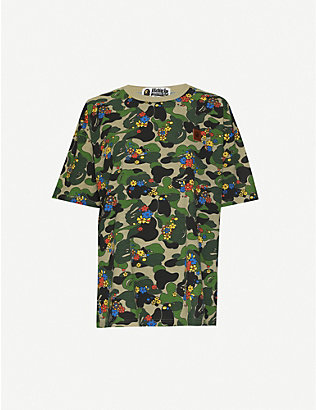 BAPE: ABC Flower graphic-print jersey T-shirt
