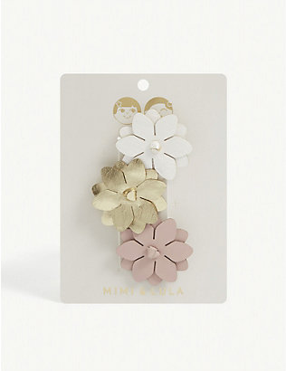 MIMI & LULA: Kids Rosy Posy salon hair clips