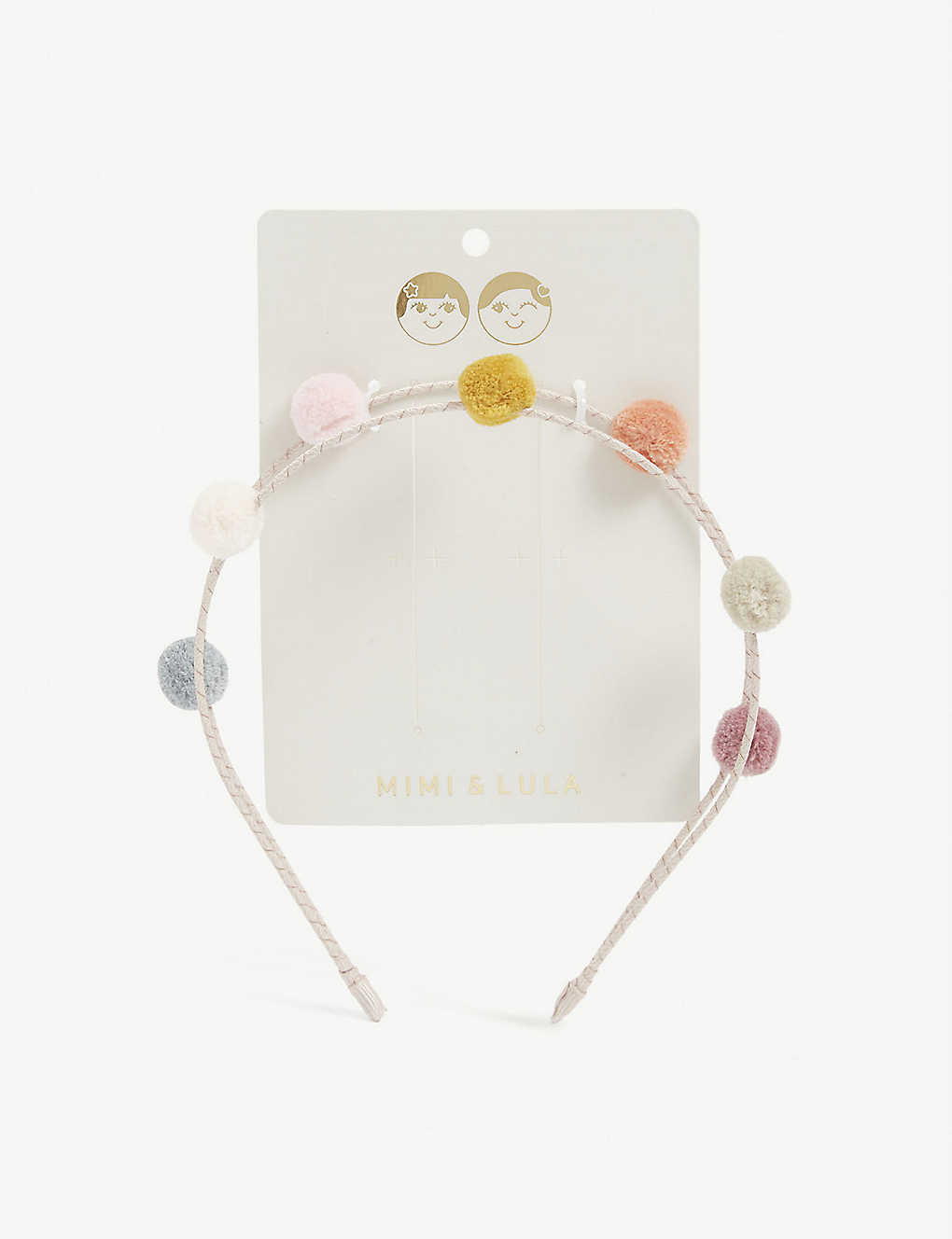 MIMI & LULA: Kids double pom pom headband