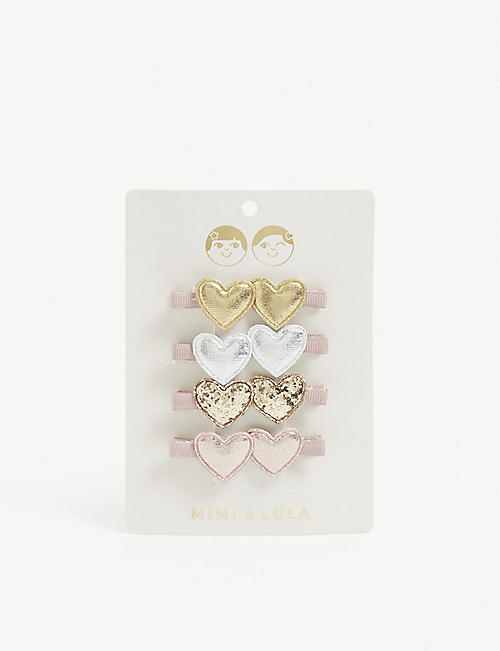 MIMI & LULA Kids sweetheart salon hair clips pack of eight