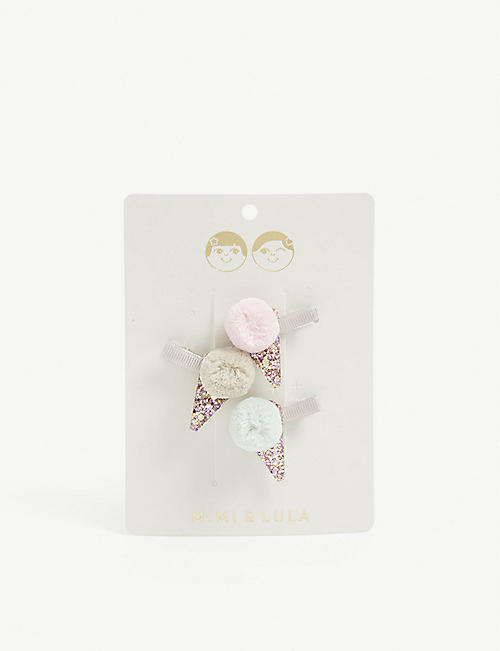 MIMI & LULA Kids ice-cream hair clips pack of three