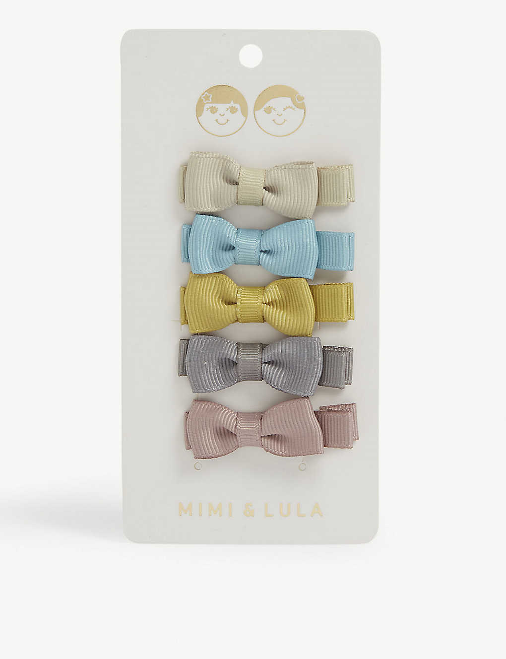 MIMI & LULA: Martha bow salon clips pack of five