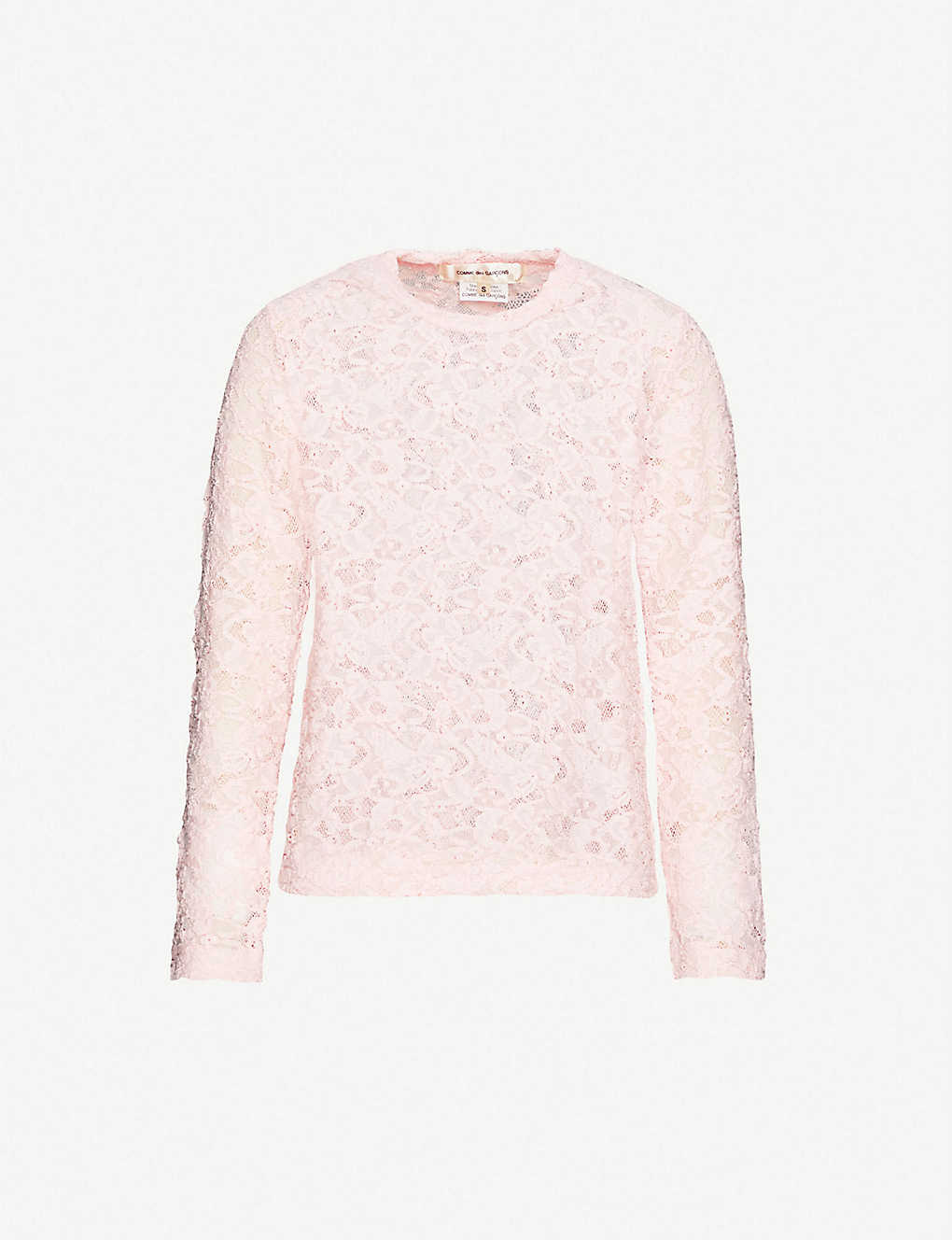 COMME DES GARCONS: Floral-embroidered lace top