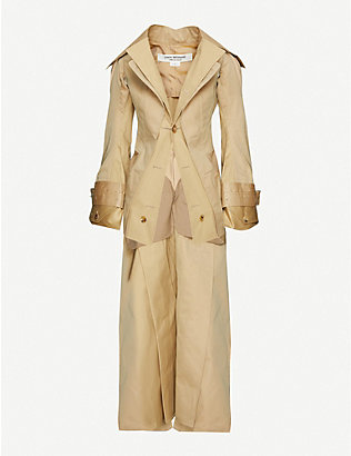 JUNYA WATANABE: Asymmetric cotton-blend trench coat