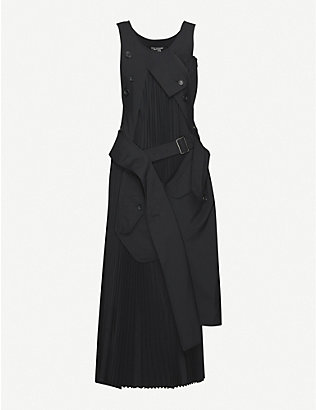 JUNYA WATANABE: Deconstructed wool-blend maxi dress