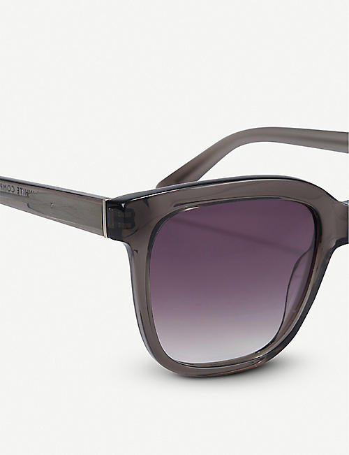 THE WHITE COMPANY Oversized square-frame acetate sunglasses