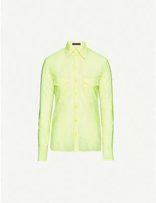 KWAIDAN EDITIONS: Semi-sheer loose-fit woven shirt