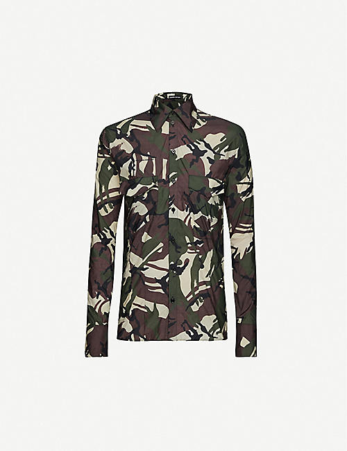 KWAIDAN EDITIONS: Camouflage-pattern loose-fit woven shirt
