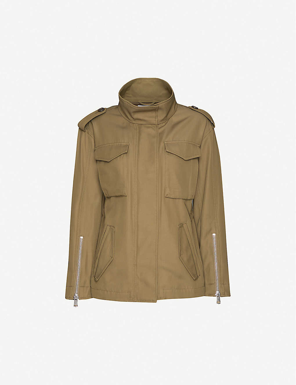 REISS: Nia single-breasted twill jacket