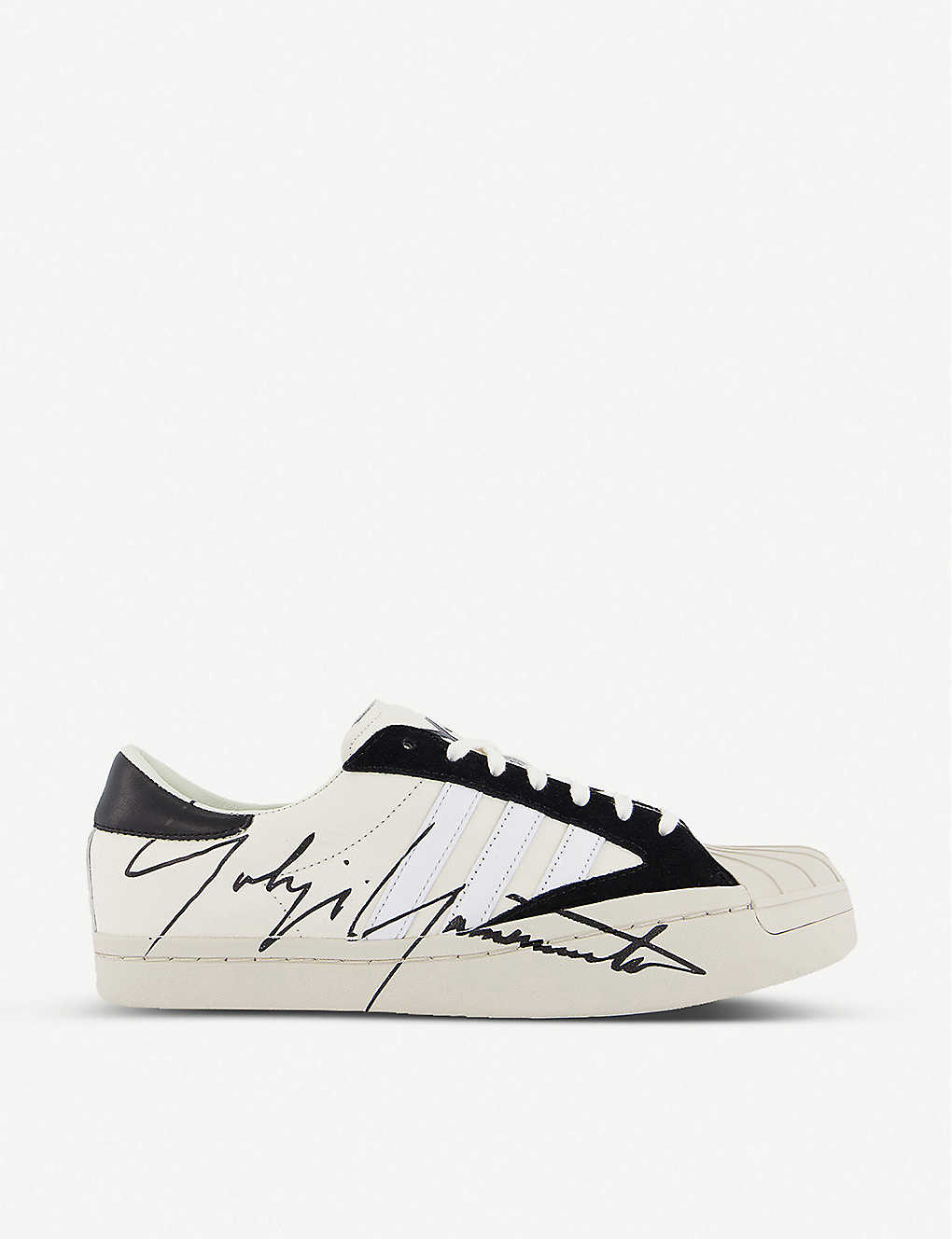 Adidas Originals Y-3 YOHJI STAR CANVAS AND LEATHER TRAINERS