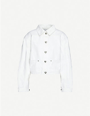 SAKS POTTS: Carmen regular-fit denim jacket