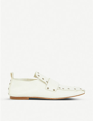 VESTIAIRE COLLECTIVE: Celine studded leather loafers