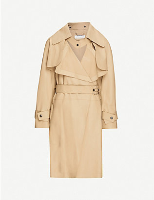 VESTIAIRE COLLECTIVE: Chloé convertible leather trench coat
