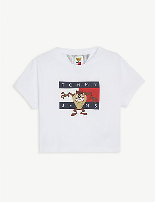 TOMMY HILFIGER: Tommy Jeans x Looney Tunes cotton cropped T-shirt 4-12 years