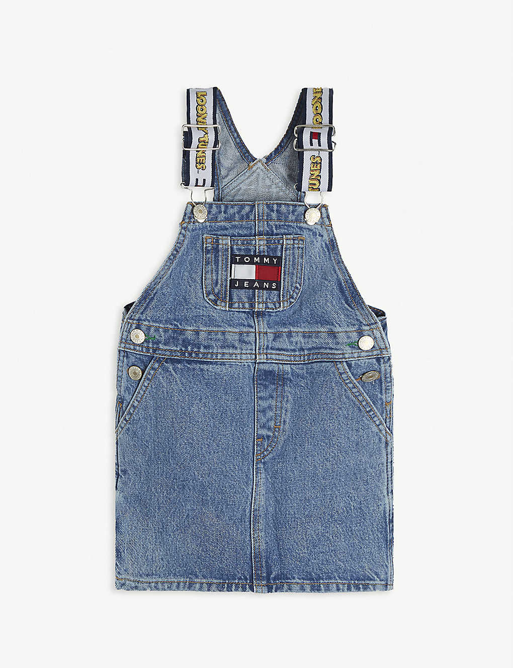 TOMMY HILFIGER: Tommy Jeans x Looney Tunes denim pinafore dress 4-12 years