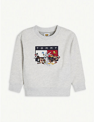 TOMMY HILFIGER: Looney Tunes cotton-blend jumper 4-12 years