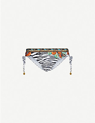 CAMILLA: Cosmic Conflict mid-rise ruched printed bikini bottoms