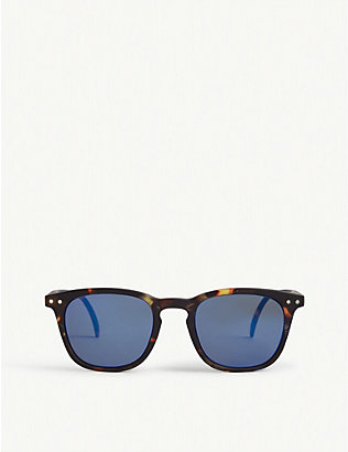 IZIPIZI: Sun #E tortoiseshell-print acetate square-frame junior sunglasses 5-10 years