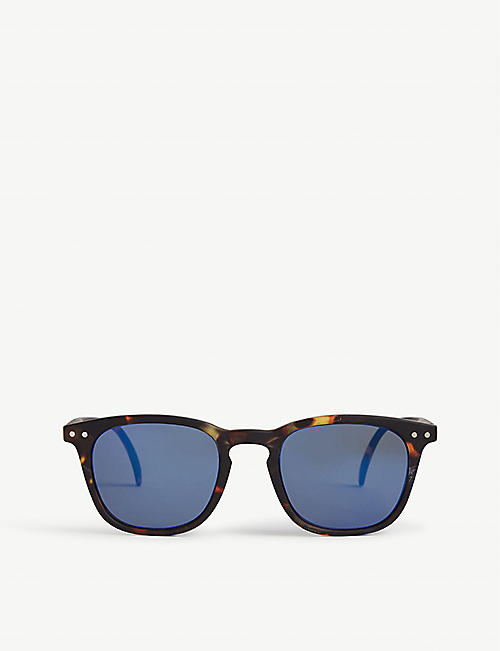 IZIPIZI: Kids Sun #E tortoiseshell-print acetate square-frame junior sunglasses 5-10 years