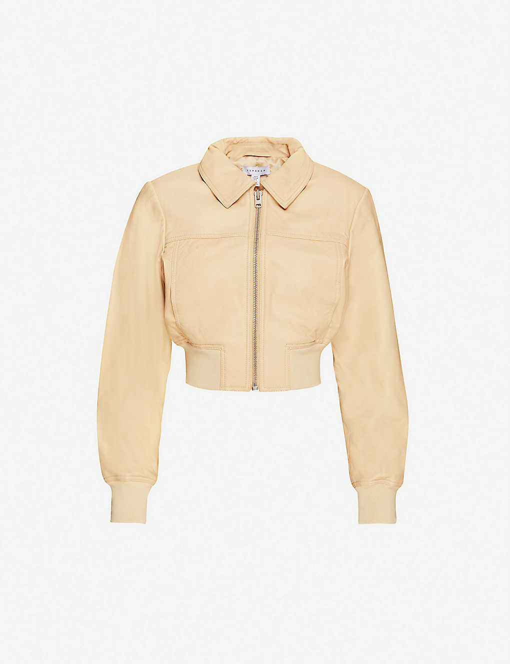 TOPSHOP: Heavyweight leather jacket