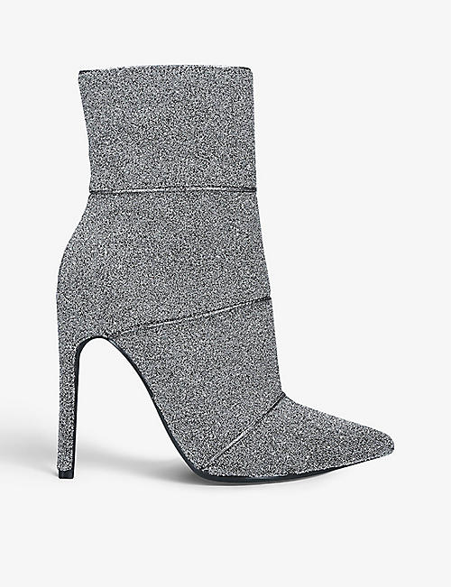 STEVE MADDEN: Winona bead-embellished ankle boots